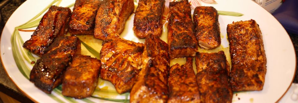 Seared Salmon & Maple Syrup with Herbed Dill Potatoes